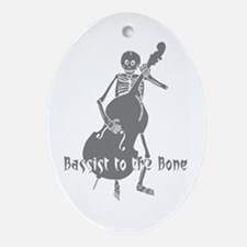 Bassist To The Bone Oval Ornament
