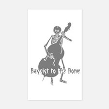Bassist To The Bone Rectangle Decal