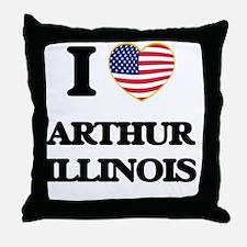 I love Arthur Illinois Throw Pillow