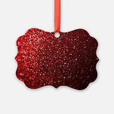 Red Glitter Photograph Ornament