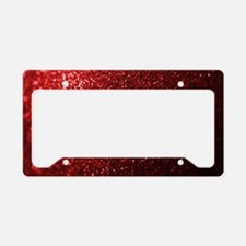 Red Glitter Photograph License Plate Holder