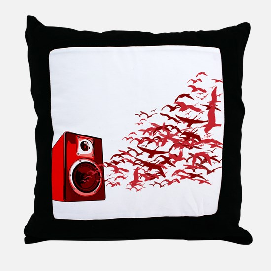 Fly away with the music Throw Pillow