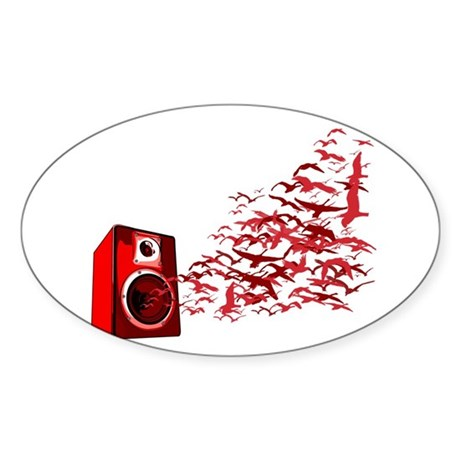 Fly away with the music Oval Sticker