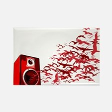 Fly away with the music Rectangle Magnet