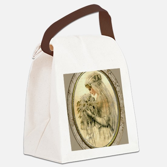 Vintage Bride Canvas Lunch Bag