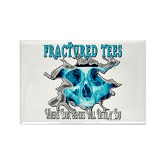 Fractured Tees Rectangle Magnet