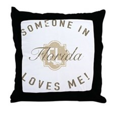 Someone In Florida Throw Pillow