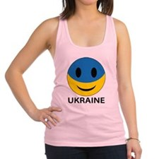 Ukrainian Smiley Face Racerback Tank Top