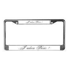 I love Paris License Plate Frame