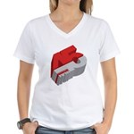 45 RPM Women's V-Neck T-Shirt