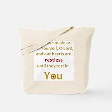 Restless Heart Tote Bag