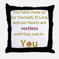 Restless Heart Throw Pillow