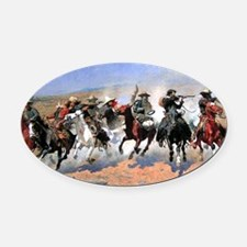 cowboy art Oval Car Magnet