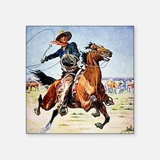 "cowboy art Square Sticker 3"" x 3"""