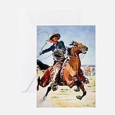 cowboy art Greeting Card
