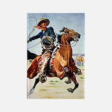 cowboy art Rectangle Magnet