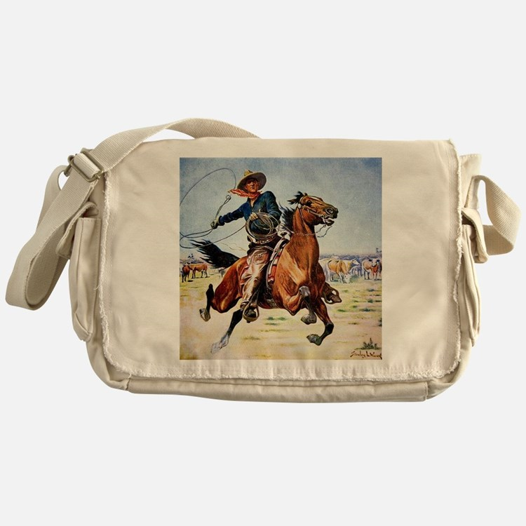 cowboy art Messenger Bag