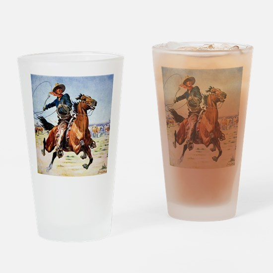 cowboy art Drinking Glass