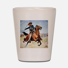 cowboy art Shot Glass