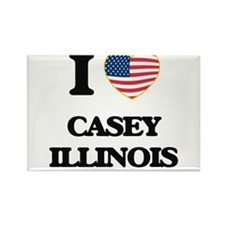 I love Casey Illinois Magnets