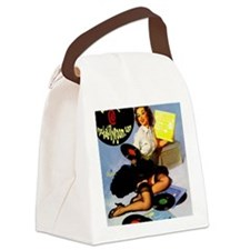 Records ! Canvas Lunch Bag