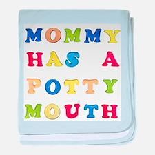 mom potty mouth copy.jpg baby blanket