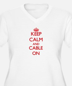 Keep Calm and Cable ON Plus Size T-Shirt