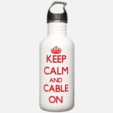 Keep Calm and Cable ON Water Bottle