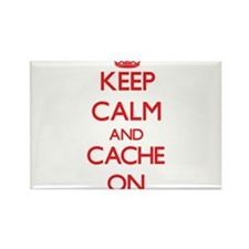 Keep Calm and Cache ON Magnets
