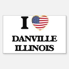 I love Danville Illinois Decal