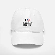 I love Danville Illinois Baseball Baseball Cap