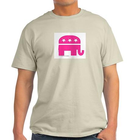 GOP Pink Elephant Ash Grey T-Shirt