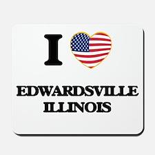 I love Edwardsville Illinois Mousepad