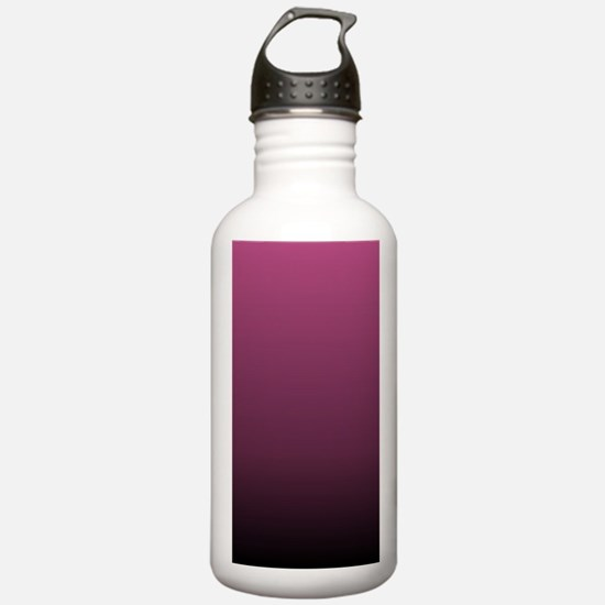 modern burgundy ombre Water Bottle
