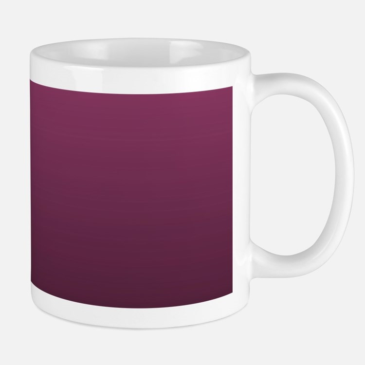 modern burgundy ombre Mugs