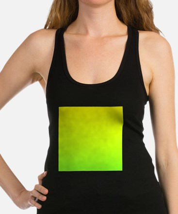 lime green yellow ombre Racerback Tank Top