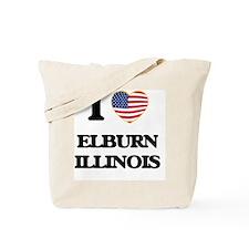 I love Elburn Illinois Tote Bag