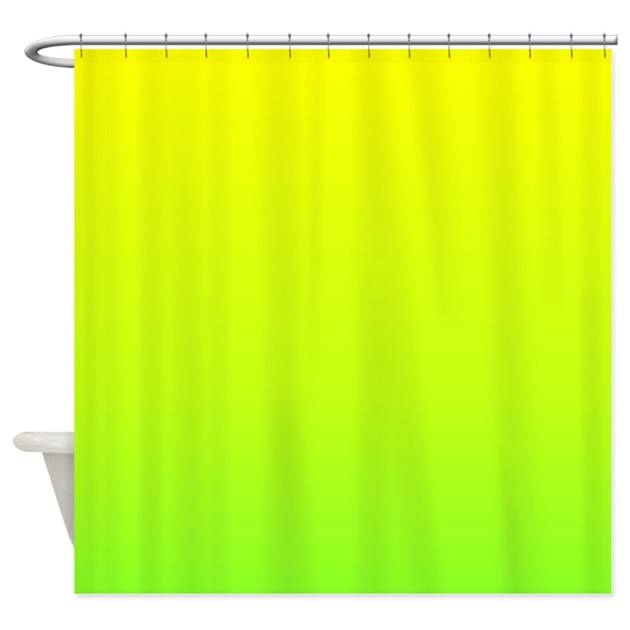Lime Green Yellow Ombre Shower Curtain By Admin Cp62325139