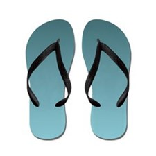 blue seafoam beach Flip Flops