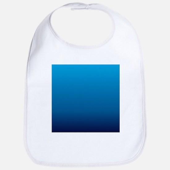trendy ombre blue Bib