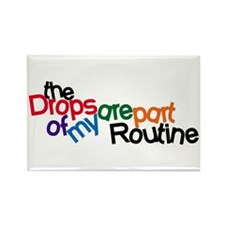 Routine Drops Rectangle Magnet