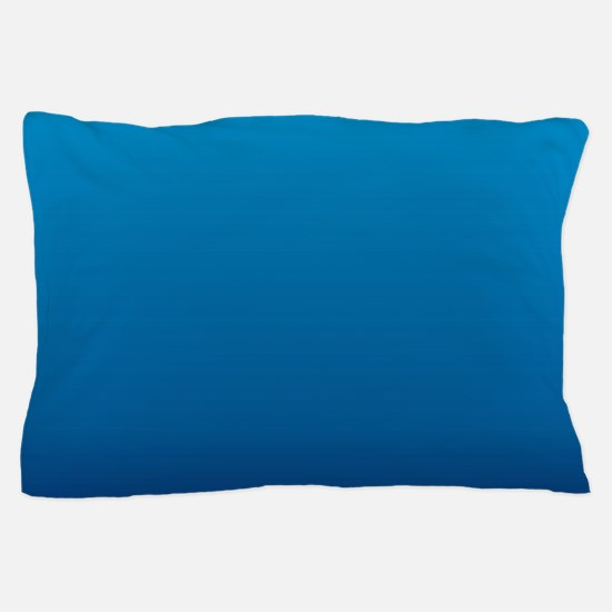trendy ombre blue Pillow Case