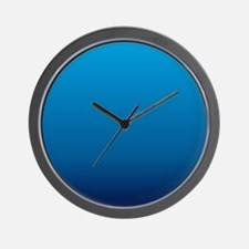 trendy ombre blue Wall Clock