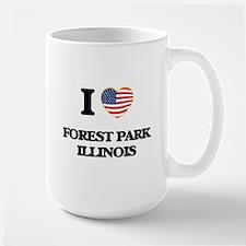 I love Forest Park Illinois Mugs