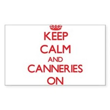 Keep Calm and Canneries ON Decal