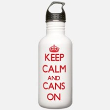 Keep Calm and Cans ON Water Bottle