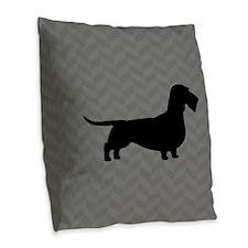 Wirehaired Dachshund Burlap Throw Pillow