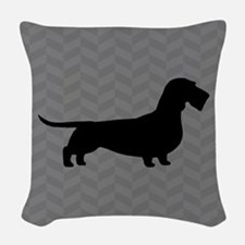 Wirehaired Dachshund Woven Throw Pillow