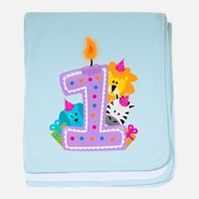 First Birthday baby blanket