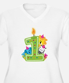 First Birthday Green Plus Size T-Shirt